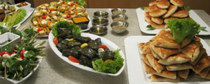 birthday party catering : Vine Leaf dolmades Fetta pumpkin tartletts Zaátar and olive oil dipping